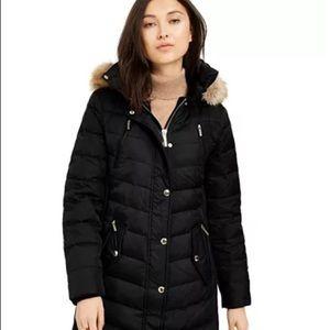 MICHAEL Michael Kors Faux-Fur-Trim Hooded Coat